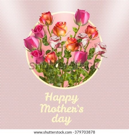 Happy Mothers Day Card. EPS 10 vector file included - stock vector