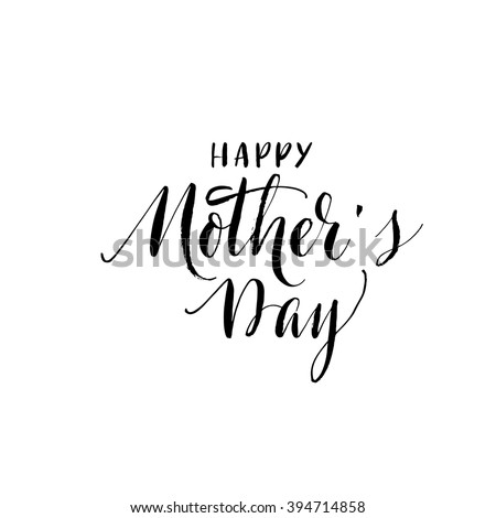 Happy Mothers Day card. Hand drawn typographic background. Ink illustration. Modern brush calligraphy. Hand drawn vector art. Happy Mothers Day lettering. - stock vector