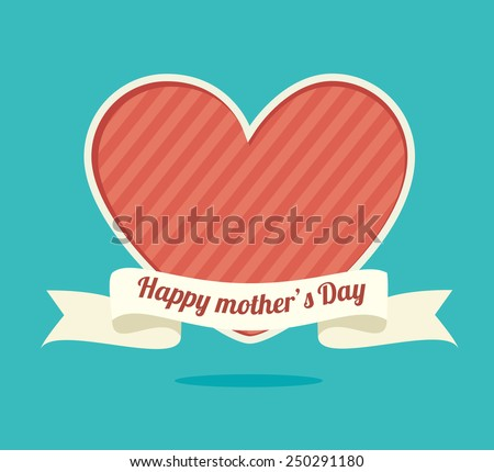 Happy mothers day card, vector illustration. - stock vector