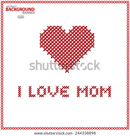 Happy Mothers Day celebrations poster, I love You Mum Vector EPS 10 illustration. - stock vector