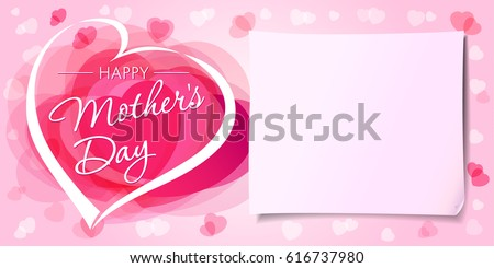 happy mothers day love banner mothersのベクター画像素材 616737980