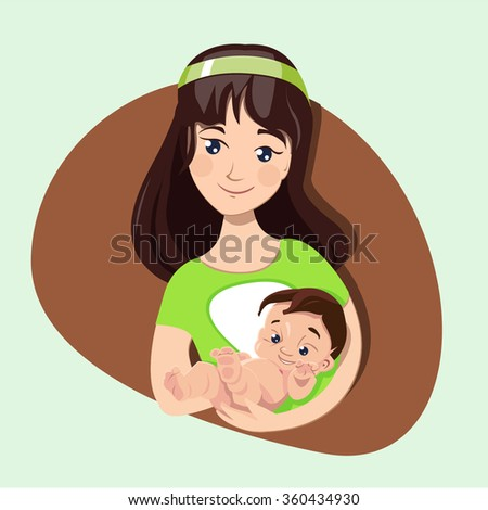 Happy Mothers' day. Mother love. - stock vector