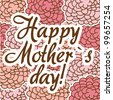 happy mothers day over pink roses background. vector illustration - stock vector