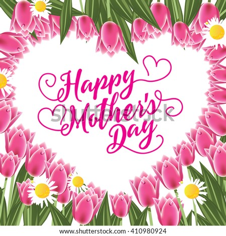 happy mothers day flowers butterflies vector stock vector, Natural flower