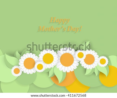 Happy Mothers Day. Vector Festive Holiday Illustration. Eps10 - stock vector