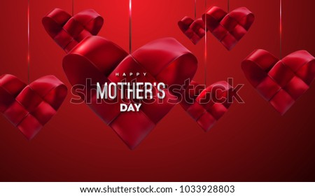 happy mothers day vector festive illustration stock vector