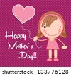Happy mothers day vector illustration - stock vector