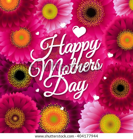 Happy Mothers Day, Vector Illustration - stock vector