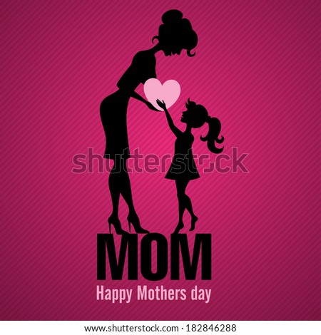 Happy Mothers Day. Vector Illustration. Eps 10. - stock vector