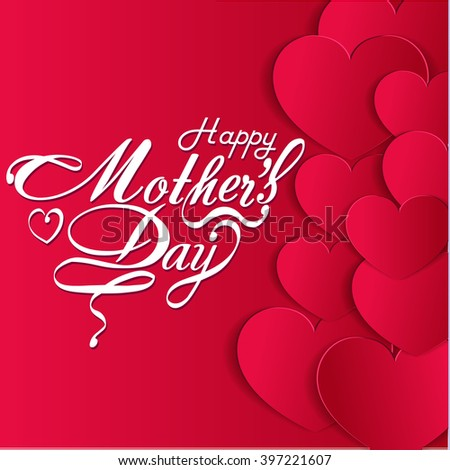 Happy Mothers's Day Typographical Design Card