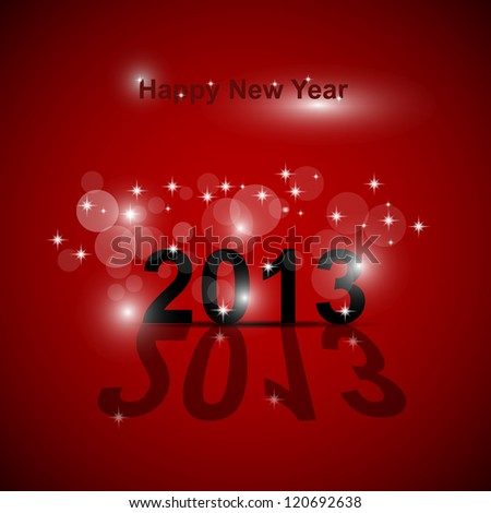 Happy New Year abstract background - stock vector