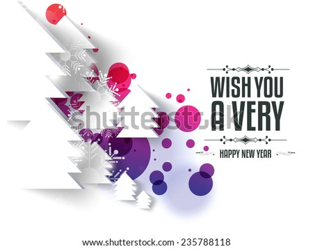 Happy new year and merry Christmas illustration or greeting card, can be use for print and publishing. eps 10 - stock vector