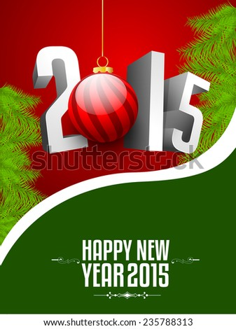 Happy new year and merry Christmas illustration or greeting card, can be use for print and publishing. eps 10