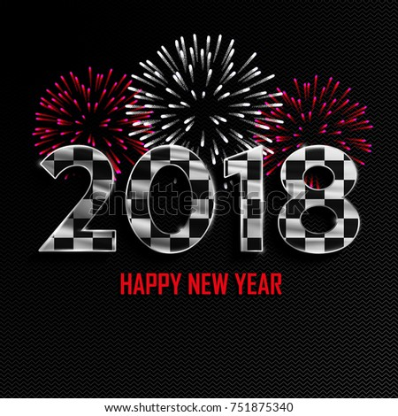 happy new year merry christmas 2018 stock vector royalty free