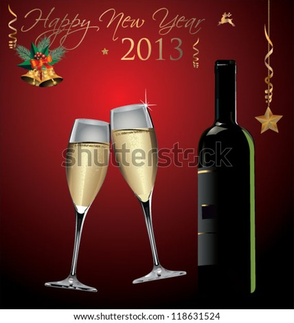 Happy New Year Background - stock vector