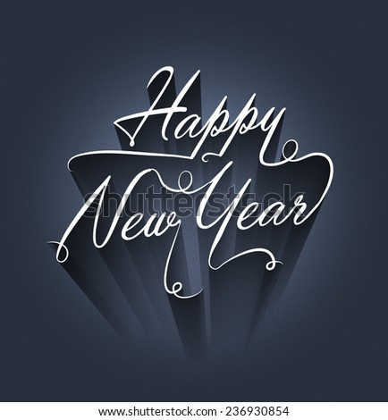 Happy new year background design - stock vector