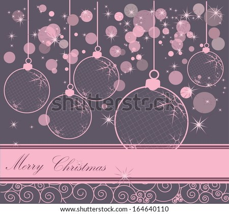 Happy New Year background pink and gray - stock vector