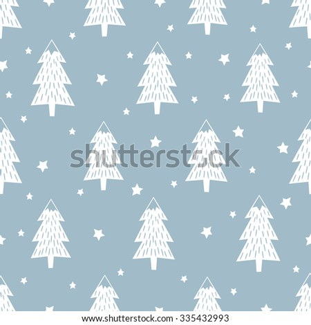 happy new year background simple seamless retro christmas pattern xmas trees stars and