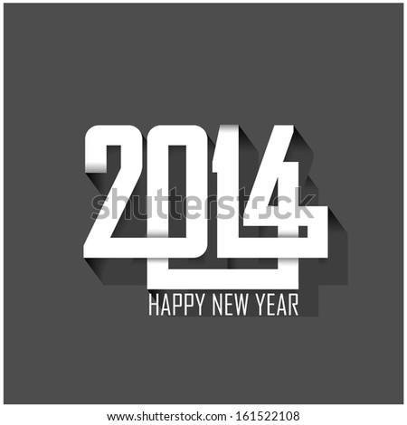 happy new year 2014 background,vector illustration - stock vector