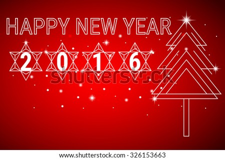 Happy new year 2016 background. Vector Illustration.