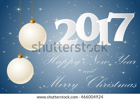 Happy New Year 2017. Background. Vector illustration