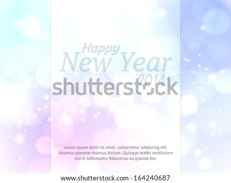 Happy New Year background with bright