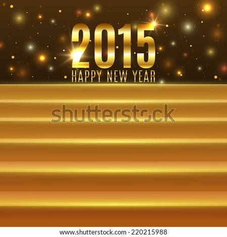 Happy New Year 2015 background with steps. Vector illustration - stock vector