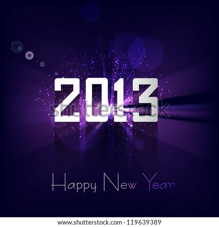 Happy new year 2013 bright colorful celebration background vector