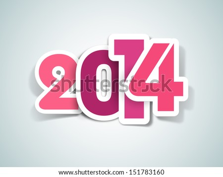 Happy New Year, can be use for stickers, tags, labels and greeting cards for new year celebration.  - stock vector