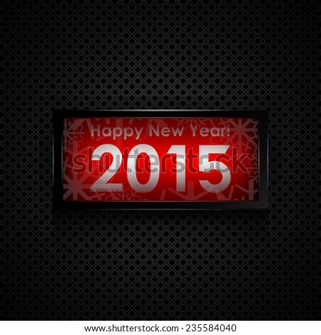 Happy new year 2015 card - stock vector