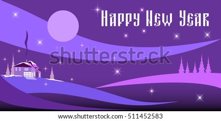 happy new year card merry christmas card new home xmas winter illustration text