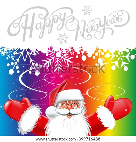 Happy new year card,2017,text,santa claus,new year,new years eve,new year greetings,new year messages,new year greeting,new year day,new year vector,new year card,happy new year 2017 - stock vector