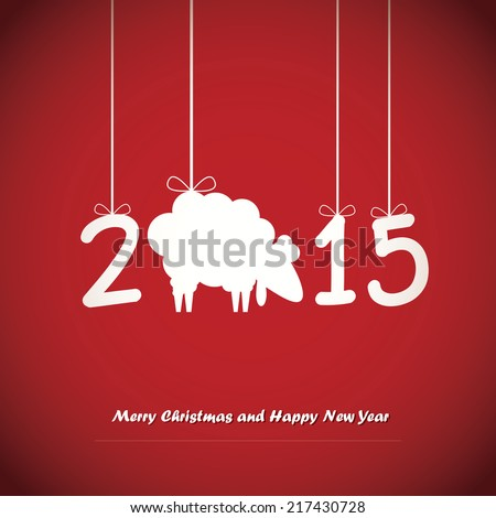 Happy New Year card. Vector illustration - stock vector
