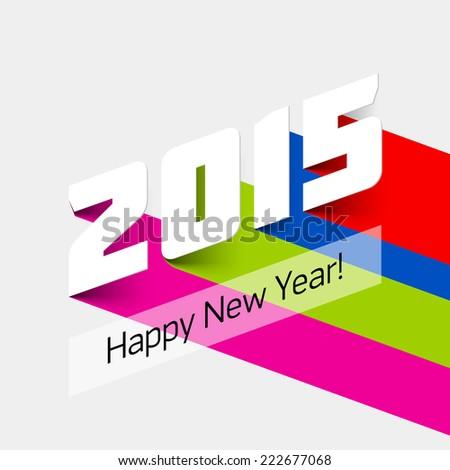 Happy new year 2015 card. Vector illustration. - stock vector