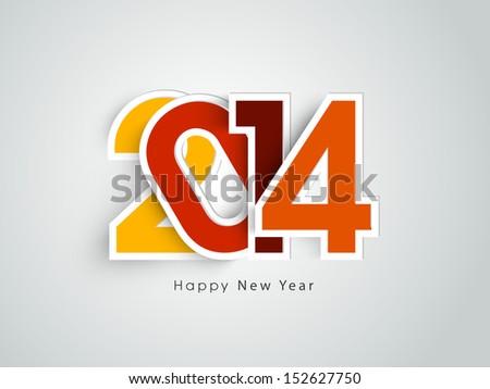 Happy New Year 2014 celebration background.  - stock vector