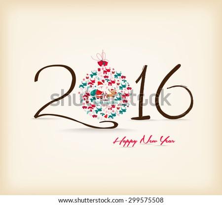 Happy New Year 201?6 celebration background - stock vector