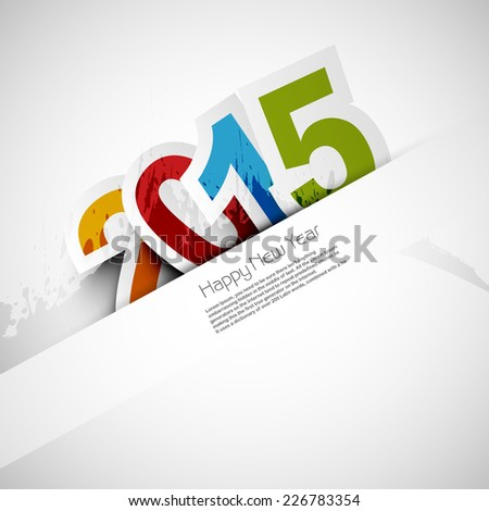 Happy New Year 2015 celebration colorful background vector design - stock vector