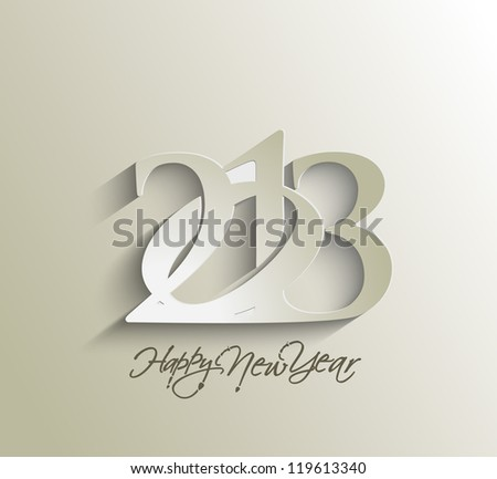 Happy new year 2013 celebration greeting card design. - stock vector