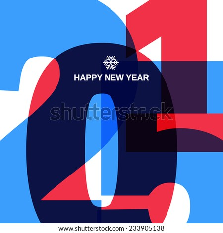 Happy New 2015 Year Cover Design - stock vector