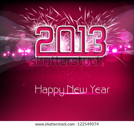 Happy new year creative 2013 colorful holiday vector background - stock vector