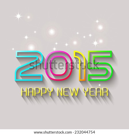 Happy new year 2015 creative greeting card design / Year 2015 vector design element.