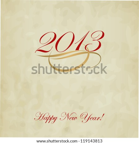 Happy New Year design card vector