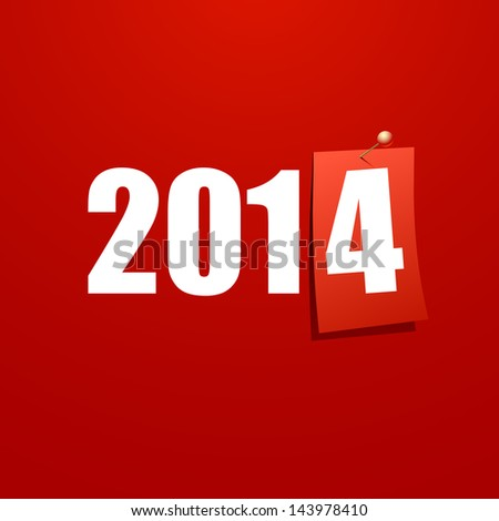Happy New Year 2014 design card vector - stock vector