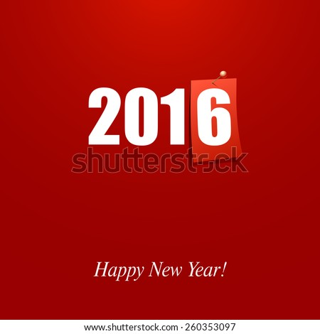 Happy New Year 2016 design card vector