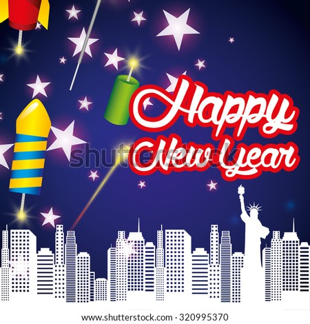 happy new year design, vector illustration eps10 graphic