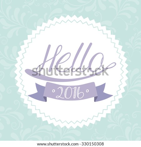 happy new year 2016 design, vector illustration eps10 graphic  - stock vector