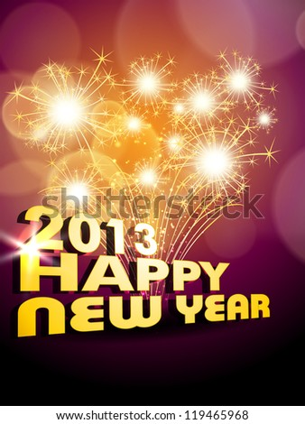 Happy New Year. EPS 10. - stock vector