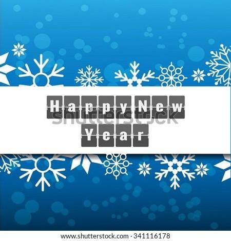 Happy new year Flip Clock - stock vector
