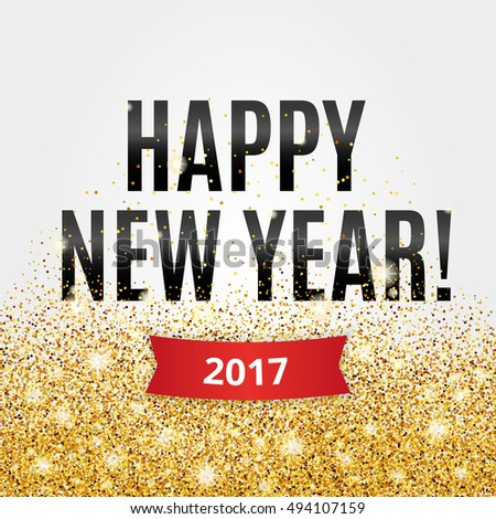 happy new year gold glitter new year gold background for flyer poster