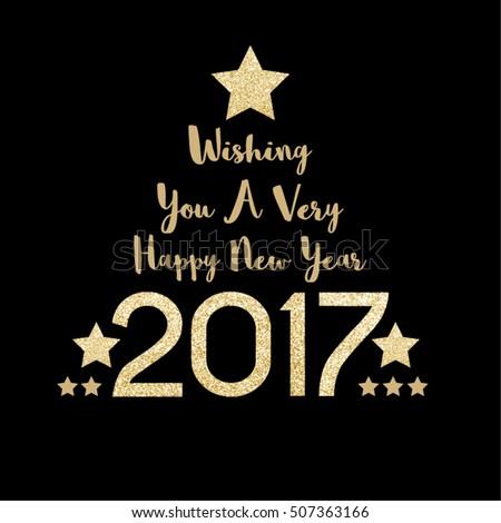 Happy new year 2017 gold season stock vector 507363166 shutterstock happy new year 2017 gold season greetings vector design m4hsunfo